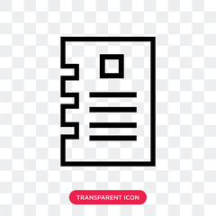 Document vector icon isolated on transparent background, Document logo design