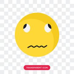 Sick smile vector icon isolated on transparent background, Sick smile logo design