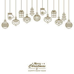 christmas seamless pattern background vector illustration