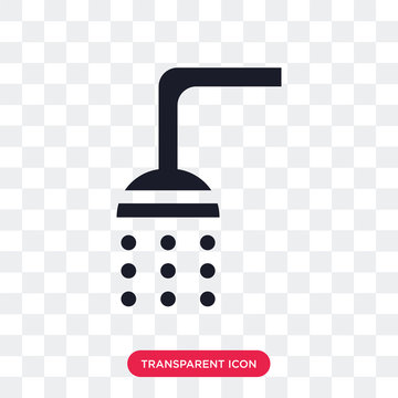 Shower vector icon isolated on transparent background, Shower logo design