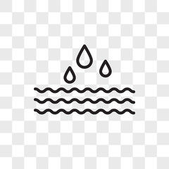 Water vector icon isolated on transparent background, Water logo design