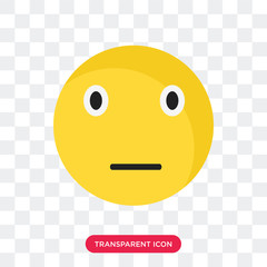 Sceptic smile vector icon isolated on transparent background, Sceptic smile logo design