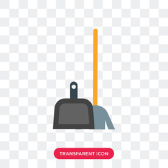 Broom vector icon isolated on transparent background, Broom logo design