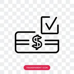 Money vector icon isolated on transparent background, Money logo design