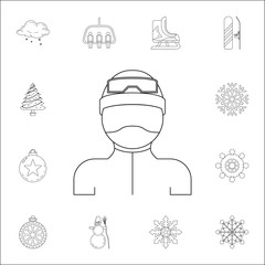 man in ski gear icon. Winter icons universal set for web and mobile