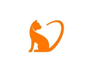 Cat Love logo vector