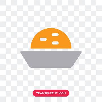 Pie vector icon isolated on transparent background, Pie logo design