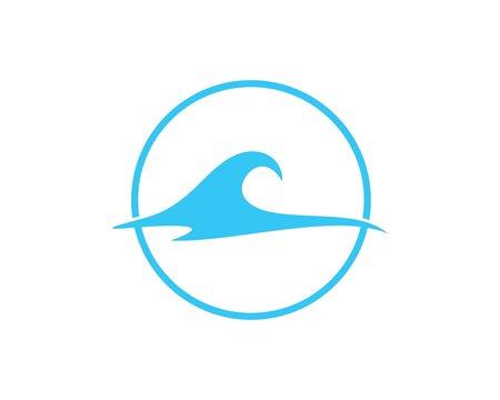 Wave illustration logo