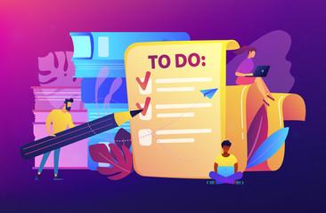 Task management it concept vector illustration