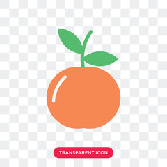 Peach vector icon isolated on transparent background, Peach logo design