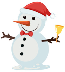 A cute snowman on white background