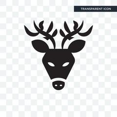 Deer vector icon isolated on transparent background, Deer logo design