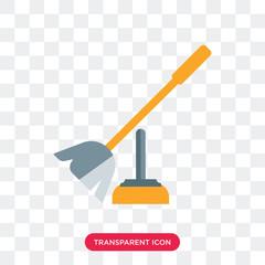 Toilet brush vector icon isolated on transparent background, Toilet brush logo design