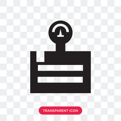 Weight vector icon isolated on transparent background, Weight logo design