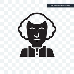 George washington vector icon isolated on transparent background, George washington logo design