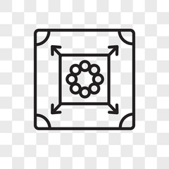 Carrom vector icon isolated on transparent background, Carrom logo design