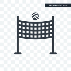 Volleyball net vector icon isolated on transparent background, Volleyball net logo design