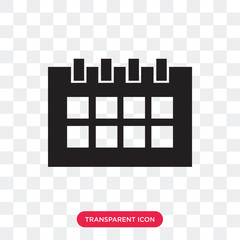 Monthly calendar vector icon isolated on transparent background, Monthly calendar logo design