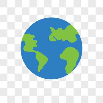 World vector icon isolated on transparent background, World logo design
