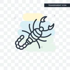 Scorpion vector icon isolated on transparent background, Scorpion logo design