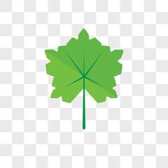 Leaf vector icon isolated on transparent background, Leaf logo design