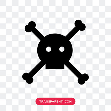 dead vector icon isolated on transparent background, dead logo design