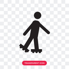 Roller Skater vector icon isolated on transparent background, Roller Skater logo design