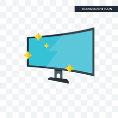 Tv screen vector icon isolated on transparent background, Tv screen logo design
