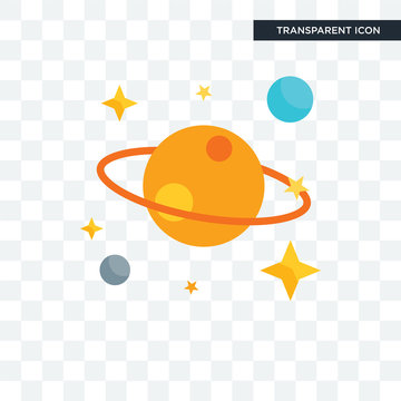 Galaxy vector icon isolated on transparent background, Galaxy logo design
