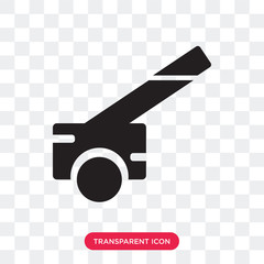 Cannon vector icon isolated on transparent background, Cannon logo design