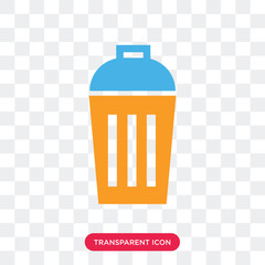 Recycling bin vector icon isolated on transparent background, Recycling bin logo design