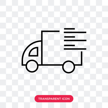 Truck vector icon isolated on transparent background, Truck logo design