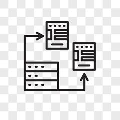 Database vector icon isolated on transparent background, Database logo design