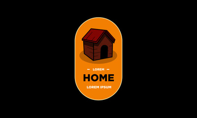 Simple House Vector Illustration Badge and Sticker Flat Style Design