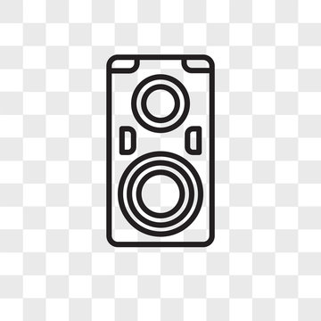 Speakers vector icon isolated on transparent background, Speakers logo design