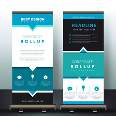 Blue WEB template for business brochure