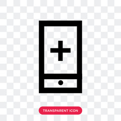 mobile app vector icon isolated on transparent background, mobile app logo design