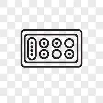 Mancala vector icon isolated on transparent background, Mancala logo design