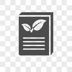 Eco book vector icon isolated on transparent background, Eco book logo design