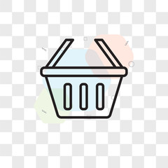 Basket vector icon isolated on transparent background, Basket logo design