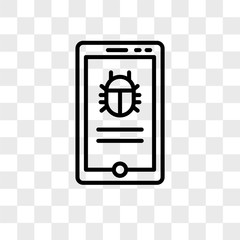 Phone vector icon isolated on transparent background, Phone logo design