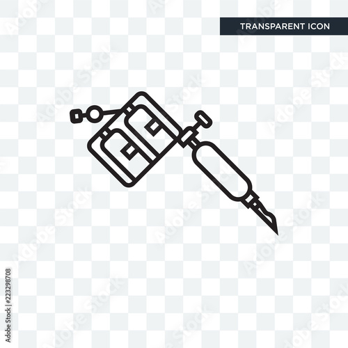 Tattoo Machine Vector Icon Isolated On Transparent Background