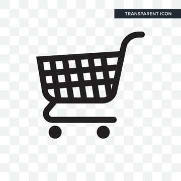 Shopping cart vector icon isolated on transparent background, Shopping cart logo design