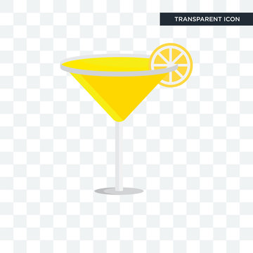 Cocktail vector icon isolated on transparent background, Cocktail logo design