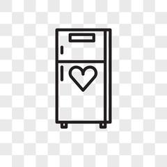 Refrigerator vector icon isolated on transparent background, Refrigerator logo design