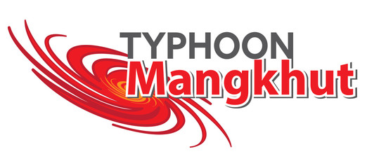 typhoon mangkhut text and graphic illustration