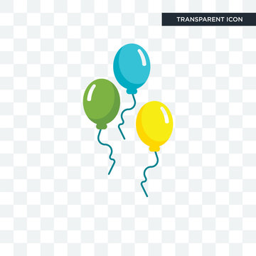 Balloons vector icon isolated on transparent background, Balloons logo design