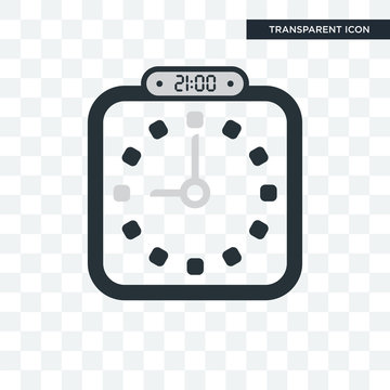 The 21:00, 9 pm vector icon isolated on transparent background, The 21:00, 9 pm logo design