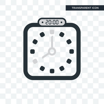 The 20:00, 8pm vector icon isolated on transparent background, The 20:00, 8pm logo design