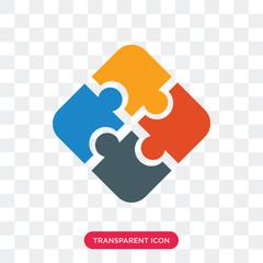Jigsaw vector icon isolated on transparent background, Jigsaw logo design